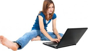 email laptop girl